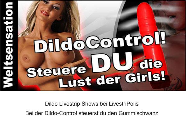 Beim Dildo Livestrip steuerst du den Gummischwanz