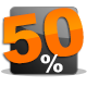 50 Prozent sparen
