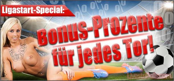 Fußball Bonus für 2. und 3. Liega