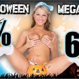 Halloween Aktion und Untote Livestrip Girls